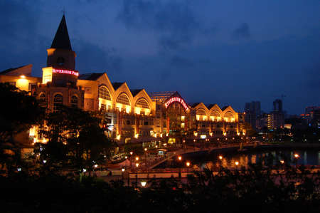quayside: Riverside Point, Clarke Quay, Singapore