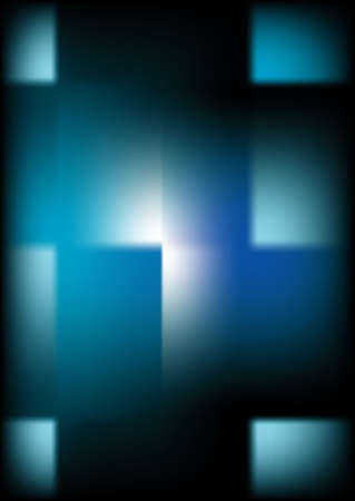 Abstract Background Blue on Black, cross and square Stock Photo - 532954