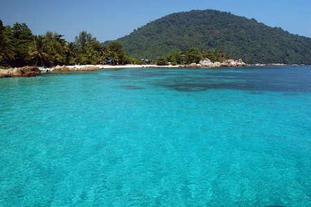 Fantastic blue sea - Perhentian island, Malaysia Stock Photo