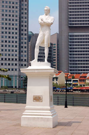 Statue of Sir Stamford Raffles at his landing place, Singapore