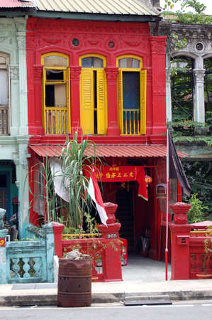 frontage: Shop House in chinatown, Singapore Stock Photo