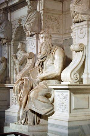 copula: San Pietro in Vincoli - Michelangelos Moses - Rome, Italy Stock Photo