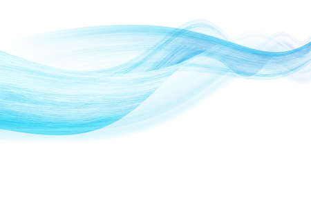 blue curves background - abstact illustration Stock Photo