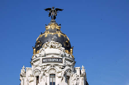 Building in the center of Madrid, Spain