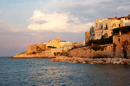 Vieste old city, in Gargano (Puglia), south Italy Stock Photo