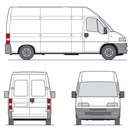 Delivery Van - Layout for presentation photo