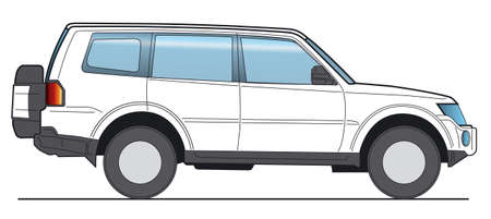 Off-Road, SUV - Layout for presentation Stock Photo