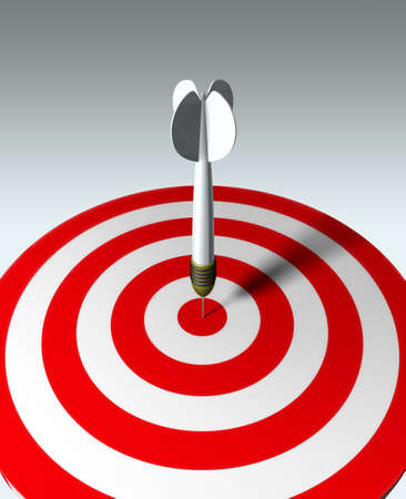 Arrow on red target - business concept Stock Photo - 743663