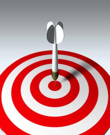 target business: Flecha roja sobre blanco - concepto de negocio
