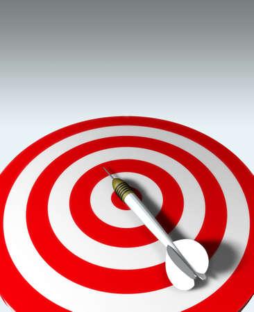 target business: Flecha roja en blanco - concepto de negocio