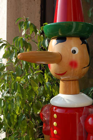 Pinocchio - famous italian wooden puppet with long nose Stock Photo - 748840