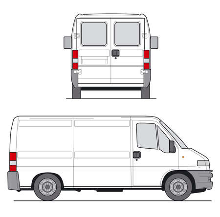 Delivery Van - Layout for presentation - vector Stock Photo - 823142