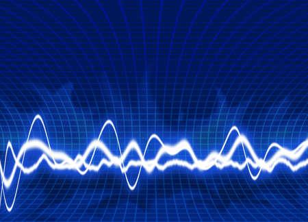 Energy waves - Blue background photo