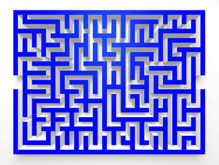 hint: Labyrinth Maze.3D Top view. Stock Photo