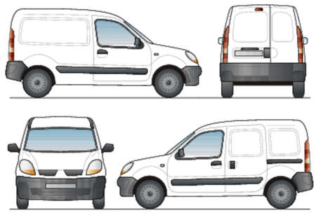 Delivery Van - Layout for presentation - Vector Illustration