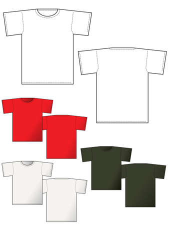 T-shirt back and front - Layout for presentation - vector Stock Photo - 1648381