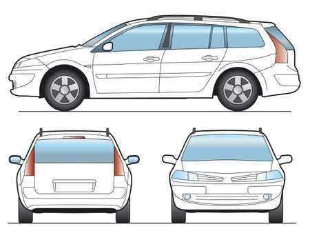 front office: SW Car - Layout for presentation - vector