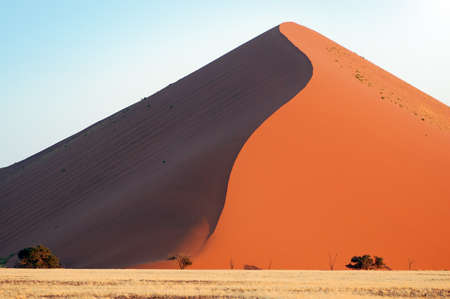 namib: Red dune in the Namib Desert, Sossusvlei, Namibia Stock Photo