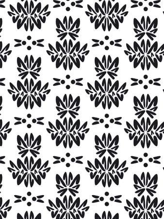 bn: Damasco estilo patr�n de fondo - BN textura  Foto de archivo