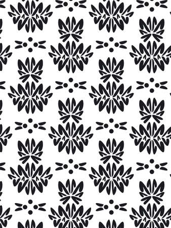 seams: Damask Style Pattern Background - BN texture Stock Photo