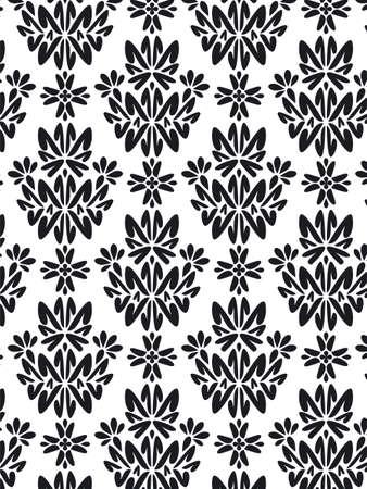 bn: Fondo del patr�n del estilo del damasco - textura de los BN Foto de archivo