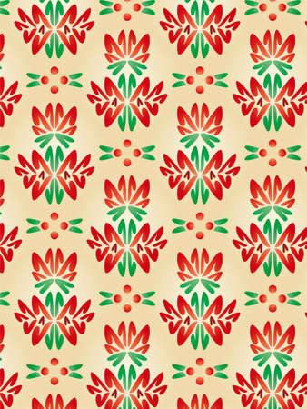 Damask Style Pattern Background - Red texture 1 - Vector Include layer whit pattern design source photo