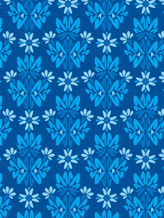 Damask Style Pattern Background - Blue texture 2 - Vector Include layer whit pattern design source photo
