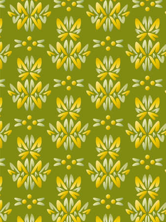 Damask Style Pattern Background - Green texture - Vector Include layer whit pattern design source photo