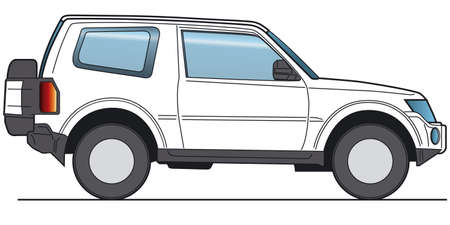 rear view: Off-Road, SUV - Layout for presentation - vector