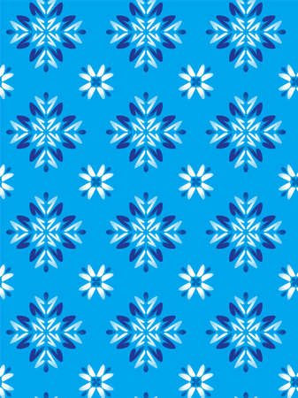 Floreal Foliage Pattern Background - Blue texture - Vector Include layer whit pattern design source Vector