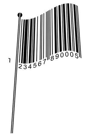 easy money: Barcode Flag - concept image - Vector Illustration