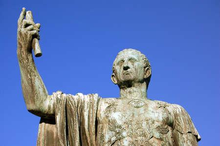magistrates: Detail of bronze statue of Julio Caesar - Rome - Italy