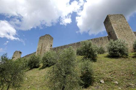 Tuscany Medieval Town - Monteriggioni - Italy Stock Photo - 3189163