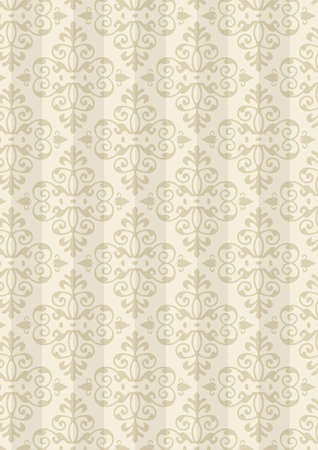 kolonial: Damast Style Pattern Background - Natural Color Textur - Vector Include Schicht Jota Muster Design-Quelle