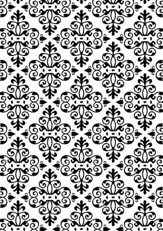 include: Damask Style Pattern Background - BW texture - Vector Include layer whit pattern design source Illustration