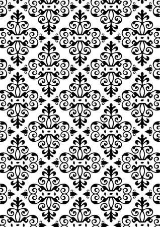 quelle: Damast Style Pattern Background - BW Textur - Vector Include Schicht Jota Muster Design-Quelle