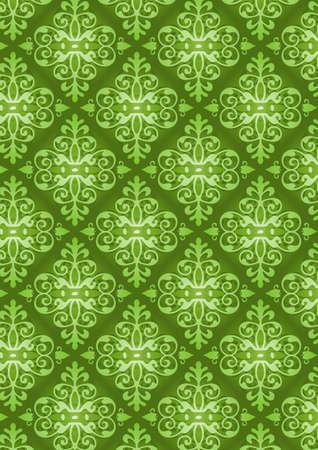 quelle: Damast Style Pattern Background - Green Textur - Vector Include Schicht Jota Muster Design-Quelle