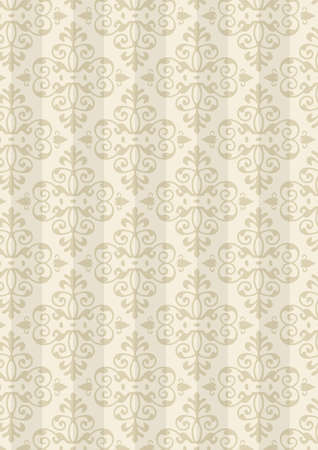 Damask Style Pattern Background - Natural color texture - Vector Include layer whit pattern design source photo