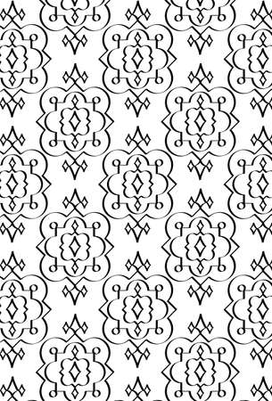bw: Damask Style Pattern Background - BW texture - Vector Include layer whit pattern design source Illustration