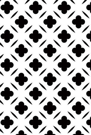 Damask Style Pattern Background - BW texture - Vector Include layer whit pattern design source Illustration