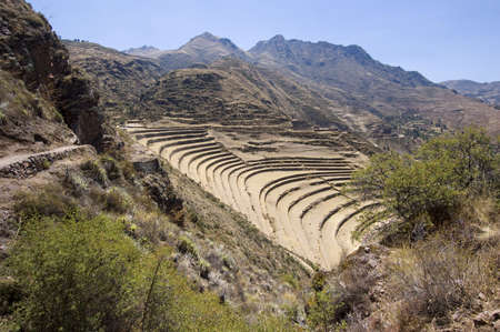 terracing: Pisac ruins, Peruvian Terraced Landscape in the Sacred Valley - Best of Peru