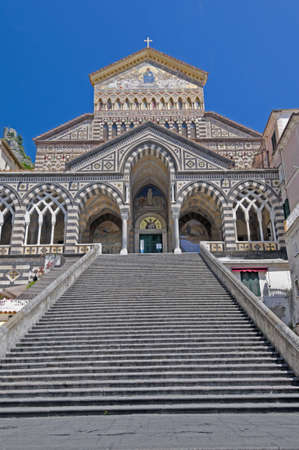 amalfi: Amalfi Cathedral - Gold decorated facade. Best of Italy.