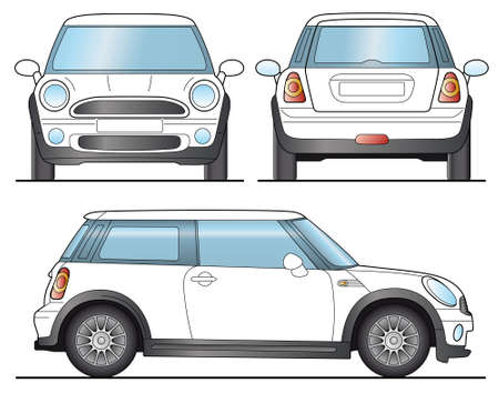 front side: Mini Car Template - Layout for presentation