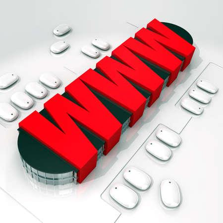 www Online Mall - e-commerce conceptual 3d image
