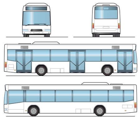Public Bus Template Stock Vector - 5695769