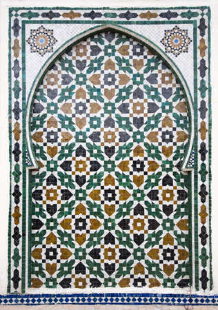 Moroccan style ceramic mosaic - Best of Marocco Stock Photo