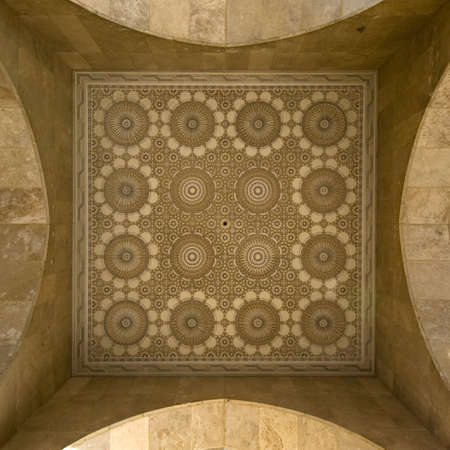 marocchini: Stile marocchino stucchi e ceramica - Piazza cornice - migliore del Marocco Archivio Fotografico
