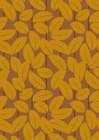 Seamless dark brown leaf background - vector include pattern source - easy to modify Stock Photo - 8115490