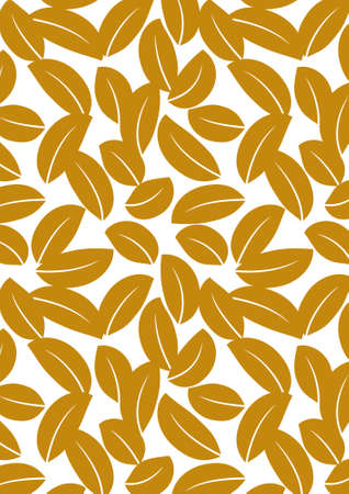 modify: Seamless brown leaf background - vector include pattern source - easy to modify Stock Photo