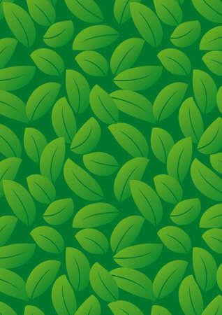 wijzigen: Naadloze donker groene blad achtergrond - vector omvatten patroon bron - gemakkelijk aan te passen